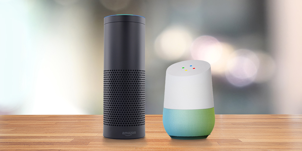 Image result for amazon alexa and google home